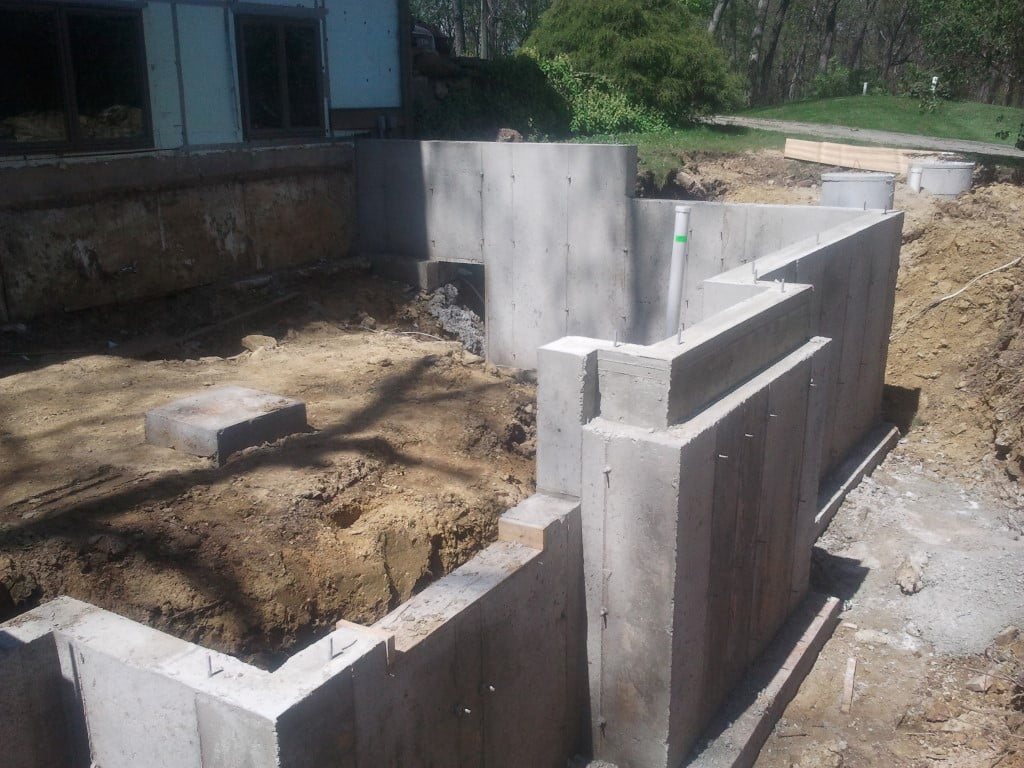 New Home Poured Foundation