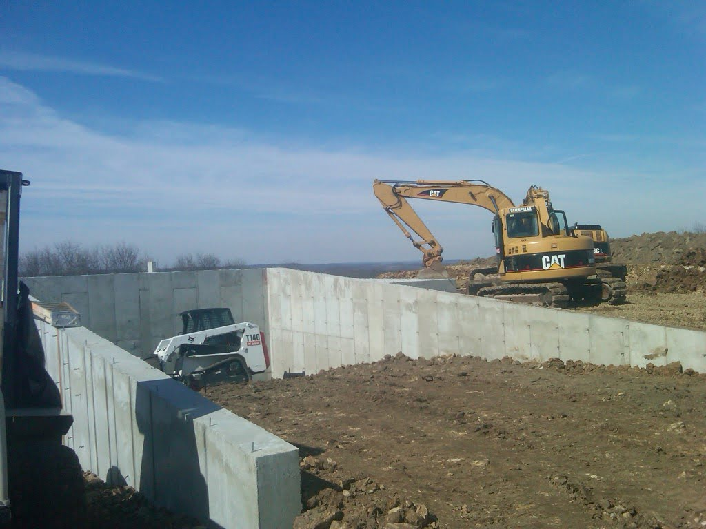 Photo of new concrete foundation for agriculture