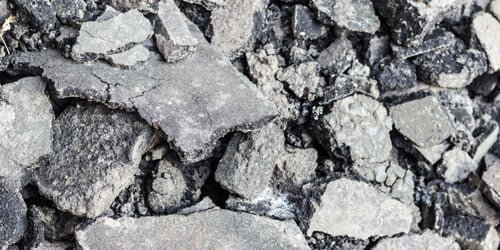 photo showing recycled asphalt